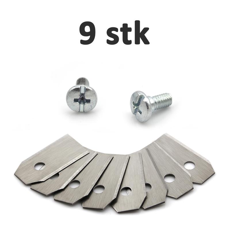 Image of 9 stk Knive til Husqvarna Automower robotplæneklipper (0,75mm)